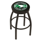 L8B2B - Black Wrinkle North Dakota Swivel Bar Stool with Accent Ring by Holland Bar Stool Company