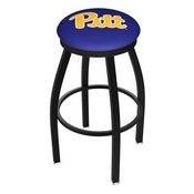 L8B2B - Black Wrinkle Pitt Swivel Bar Stool with Accent Ring by Holland Bar Stool Company