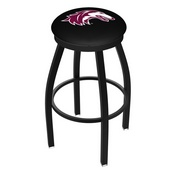 L8B2B - Black Wrinkle Southern Illinois Swivel Bar Stool with Accent Ring by Holland Bar Stool Company