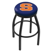 L8B2B - Black Wrinkle Syracuse Swivel Bar Stool with Accent Ring by Holland Bar Stool Company