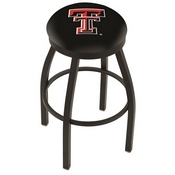 L8B2B - Black Wrinkle Texas Tech Swivel Bar Stool with Accent Ring by Holland Bar Stool Company