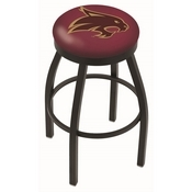 L8B2B - Black Wrinkle Texas State Swivel Bar Stool with Accent Ring by Holland Bar Stool Company