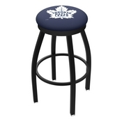 L8B2B - Black Wrinkle Toronto Maple Leafs Swivel Bar Stool with Accent Ring by Holland Bar Stool Company