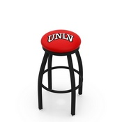 L8B2B - Black Wrinkle UNLV Swivel Bar Stool with Accent Ring by Holland Bar Stool Company