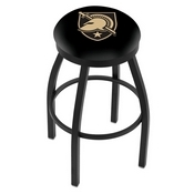 L8B2B - Black Wrinkle US Military Academy (ARMY) Swivel Bar Stool with Accent Ring by Holland Bar Stool Company
