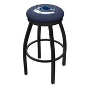 L8B2B - Black Wrinkle Vancouver Canucks Swivel Bar Stool with Accent Ring by Holland Bar Stool Company