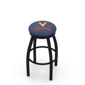L8B2B - Black Wrinkle Virginia Swivel Bar Stool with Accent Ring by Holland Bar Stool Company