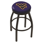 L8B2B - Black Wrinkle West Virginia Swivel Bar Stool with Accent Ring by Holland Bar Stool Company