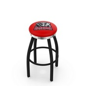 L8B2C - Black Wrinkle Alabama Swivel Bar Stool with Chrome Accent Ring by Holland Bar Stool Company
