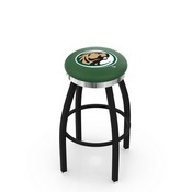 L8B2C - Black Wrinkle Bemidji State Swivel Bar Stool with Chrome Accent Ring by Holland Bar Stool Company