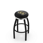 L8B2C - Black Wrinkle Central Florida Swivel Bar Stool with Chrome Accent Ring by Holland Bar Stool Company
