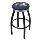 L8B2C - Black Wrinkle Colorado Avalanche Swivel Bar Stool with Chrome Accent Ring by Holland Bar Stool Company