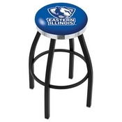 L8B2C - Black Wrinkle Eastern Illinois Swivel Bar Stool with Chrome Accent Ring by Holland Bar Stool Company