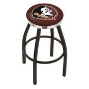 L8B2C - Black Wrinkle Florida State (Head) Swivel Bar Stool with Chrome Accent Ring by Holland Bar Stool Company