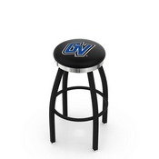 L8B2C - Black Wrinkle Grand Valley State Swivel Bar Stool with Chrome Accent Ring by Holland Bar Stool Company