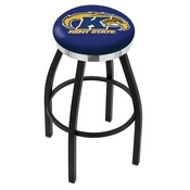 L8B2C - Black Wrinkle Kent State Swivel Bar Stool with Chrome Accent Ring by Holland Bar Stool Company