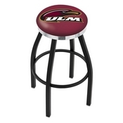L8B2C - Black Wrinkle Louisiana-Monroe Swivel Bar Stool with Chrome Accent Ring by Holland Bar Stool Company