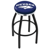 L8B2C - Black Wrinkle Nevada Swivel Bar Stool with Chrome Accent Ring by Holland Bar Stool Company