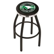L8B2C - Black Wrinkle North Dakota Swivel Bar Stool with Chrome Accent Ring by Holland Bar Stool Company