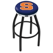 L8B2C - Black Wrinkle Syracuse Swivel Bar Stool with Chrome Accent Ring by Holland Bar Stool Company
