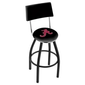 L8B4 - Black Wrinkle Alabama Swivel Bar Stool with a Back by Holland Bar Stool Company (ALogo)