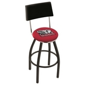 L8B4 - Black Wrinkle Alabama Swivel Bar Stool with a Back by Holland Bar Stool Company