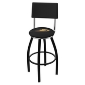 L8B4 - Black Wrinkle Anaheim Ducks Swivel Bar Stool with a Back by Holland Bar Stool Company