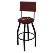 L8B4 - Black Wrinkle Arizona Coyotes Swivel Bar Stool with a Back by Holland Bar Stool Company