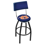 L8B4 - Black Wrinkle Auburn Swivel Bar Stool with a Back by Holland Bar Stool Company