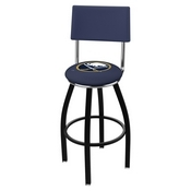 L8B4 - Black Wrinkle Buffalo Sabres Swivel Bar Stool with a Back by Holland Bar Stool Company