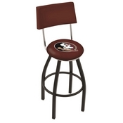 L8B4 - Black Wrinkle Florida State (Head) Swivel Bar Stool with a Back by Holland Bar Stool Company