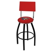 L8B4 - Black Wrinkle Florida Panthers Swivel Bar Stool with a Back by Holland Bar Stool Company