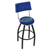 L8B4 - Black Wrinkle Florida Swivel Bar Stool with a Back by Holland Bar Stool Company