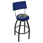 L8B4 - Black Wrinkle Kent State Swivel Bar Stool with a Back by Holland Bar Stool Company