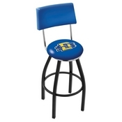 L8B4 - Black Wrinkle South Dakota State Swivel Bar Stool with a Back by Holland Bar Stool Company