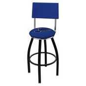 L8B4 - Black Wrinkle St Louis Blues Swivel Bar Stool with a Back by Holland Bar Stool Company