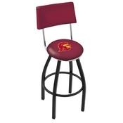 L8B4 - Black Wrinkle USC Trojans Swivel Bar Stool with a Back by Holland Bar Stool Company