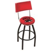 L8B4 - Black Wrinkle UNLV Swivel Bar Stool with a Back by Holland Bar Stool Company