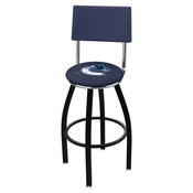 L8B4 - Black Wrinkle Vancouver Canucks Swivel Bar Stool with a Back by Holland Bar Stool Company