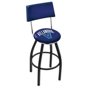 L8B4 - Black Wrinkle Villanova Swivel Bar Stool with a Back by Holland Bar Stool Company