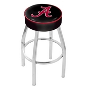 L8C1 - 4 Alabama Cushion Seat with Chrome Base Swivel Bar Stool by Holland Bar Stool Company (ALogo)