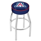 L8C1 - 4 Arizona Cushion Seat with Chrome Base Swivel Bar Stool by Holland Bar Stool Company