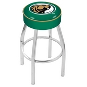 L8C1 - 4 Bemidji State Cushion Seat with Chrome Base Swivel Bar Stool by Holland Bar Stool Company