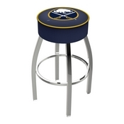 L8C1 - 4 Buffalo Sabres Cushion Seat with Chrome Base Swivel Bar Stool by Holland Bar Stool Company