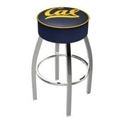 L8C1 - 4 Cal Cushion Seat with Chrome Base Swivel Bar Stool by Holland Bar Stool Company