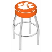 L8C1 - 4 Clemson Cushion Seat with Chrome Base Swivel Bar Stool by Holland Bar Stool Company