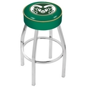 L8C1 - 4 Colorado State Cushion Seat with Chrome Base Swivel Bar Stool by Holland Bar Stool Company