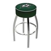 L8C1 - 4 Dallas Stars Cushion Seat with Chrome Base Swivel Bar Stool by Holland Bar Stool Company