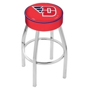 L8C1 - 4 University of Dayton Cushion Seat with Chrome Base Swivel Bar Stool by Holland Bar Stool Company