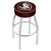L8C1 - 4 Florida State (Head) Cushion Seat with Chrome Base Swivel Bar Stool by Holland Bar Stool Company